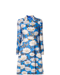 Dolce & Gabbana Floral Double Breasted Jacquard Coat