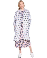 Floral printed cotton silk coat medium 547666