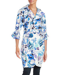 Eliza J Floral Trench Coat
