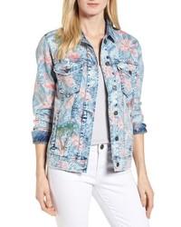 BILLY T Embroidered Floral Denim Jacket