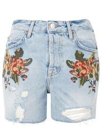 Moto cross stitch floral ashley shorts medium 5028665