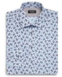 Light Blue Floral Dress Shirt