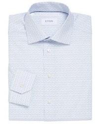 Eton Slim Fit Floral Printed Dress Shirt