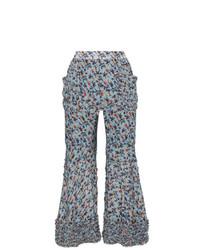 Chloé Bootcut Floral Print Trousers