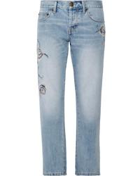 Light Blue Floral Jeans