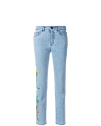 Mr & Mrs Italy Cropped Floral Detail Jeans