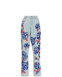 Ashish Floral Embellished Straight Leg Jeans