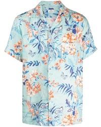 Etro Floral Print Linen Shirt