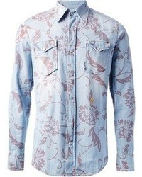 Floral denim shirt medium 56709