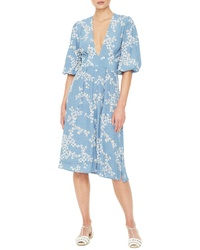 Faithfull The Brand Chloe Floral Print Midi Dress