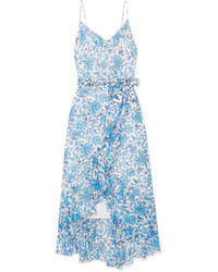 Alice + Olivia Tevi Ruffled Printed Tte Midi Dress