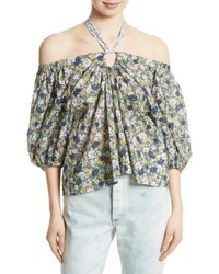 La vie suzette off the shoulder floral top medium 3996655