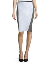T Tahari Ezra Floral Panel Neoprene Pencil Skirt Gust