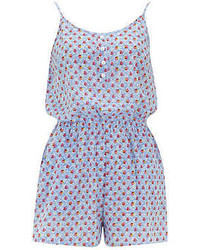 Dorothy Perkins Blue Floral Print Playsuit