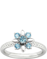jcpenney Fine Jewelry Personally Stackable Genuine Blue Topaz Flower Ring