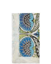 Loewe Blue And Green William De Morgan Modal Flowers Anagram Scarf