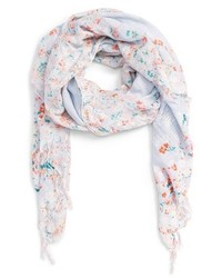 Hinge Feathering Floral Scarf