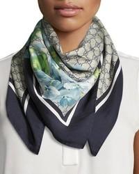Gucci Floral Print Ssima Foulard Scarf