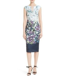 London tiha floral print sheath dress medium 4731010