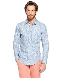 Light Blue Floral Shirts for Men | Men's Fashion
