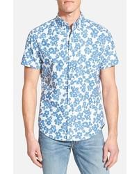 Light Blue Floral Short Sleeve Shirts for Men | Men's Fashion
