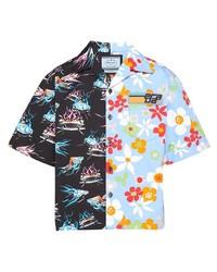 Prada Double Match Floral Print Shirt