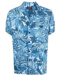 Emporio Armani Floral Short Sleeve Shirt