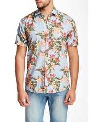 6deb91200 Men's Light Blue Floral Short Sleeve Shirts by Shine | Men's Fashion ...
