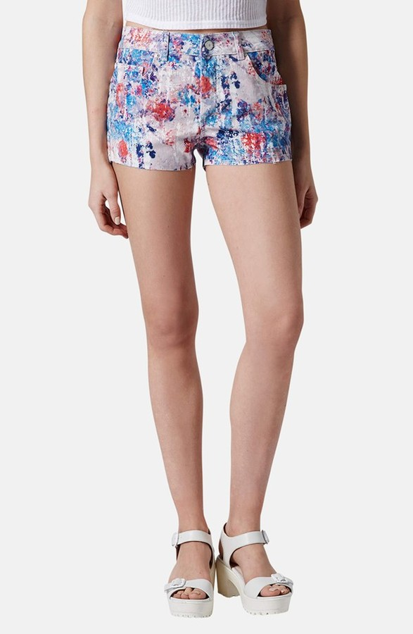 Topshop Moto Floral Denim Shorts   Where to buy & how to wear
