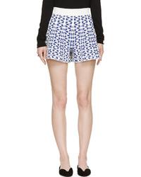 Alexander McQueen Ultramarine Floral Knit Shorts