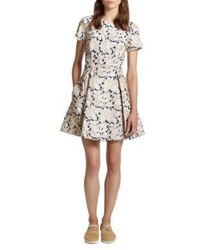 Suno Floral Embroidered Dress