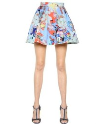 Mary Katrantzou Floral Animal Printed Twill Skirt