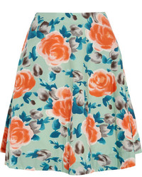 Marc by Marc Jacobs Jerrie Rose Floral Print Cotton Poplin Skirt