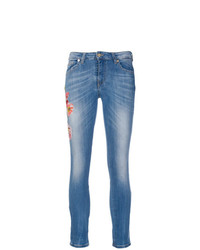 Blumarine Cropped Sequinned Jeans