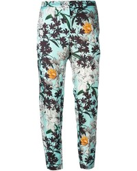 MSGM Cropped Floral Trousers