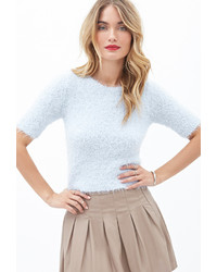 Forever 21 Contemporary Fuzzy Knit Top