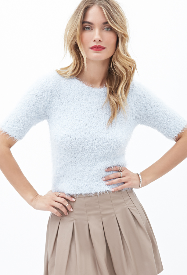 Forever 21 Contemporary Fuzzy Knit Top Where To Buy How To Wear
