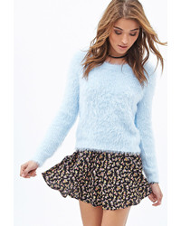 Forever 21 Fuzzy Waffle Knit Sweater