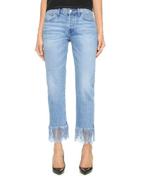 Wm3 straight crop fringe jeans medium 536935