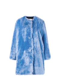 MSGM Faux Fur Collarless Coat