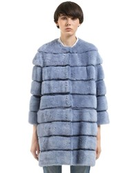 Mink fur coat w detachable panels medium 4417807