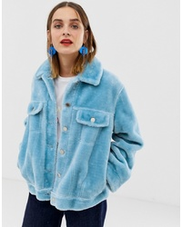 2nd Day 2ndday Faux Fur Trucker Jacket