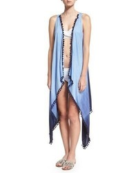 Ella Moss Swim Tribal Romance Ombre Printed Coverup Blue