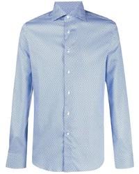 Canali Geometric Button Down Shirt