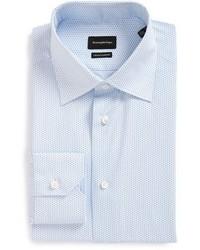 Ermenegildo Zegna Regular Fit Geometric Dress Shirt