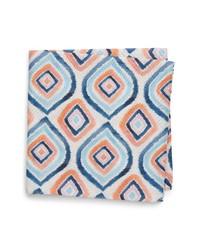 Eton Geometric Cotton Pocket Square
