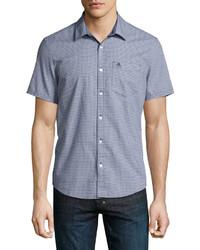 Original Penguin Geometric Print Short Sleeve Shirt Dark Blue