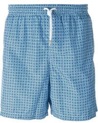 Kiton Geometric Print Swim Shorts