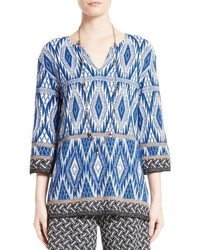 St. John Collection Kiara Geo Knit Tunic