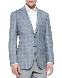 Check wool jacket blue medium 355323